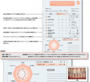 東京のホワイトニング専門歯科の歯の分析表