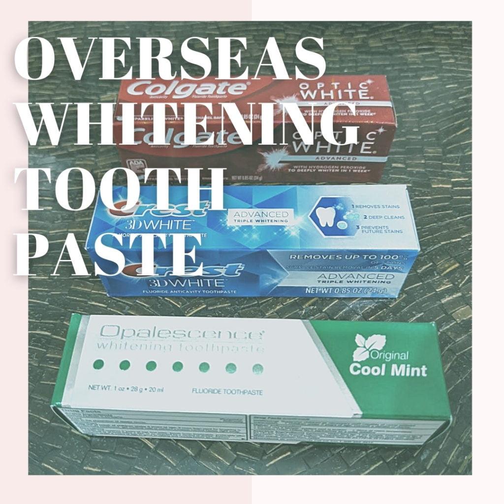 海外製ホワイトニング歯磨き粉